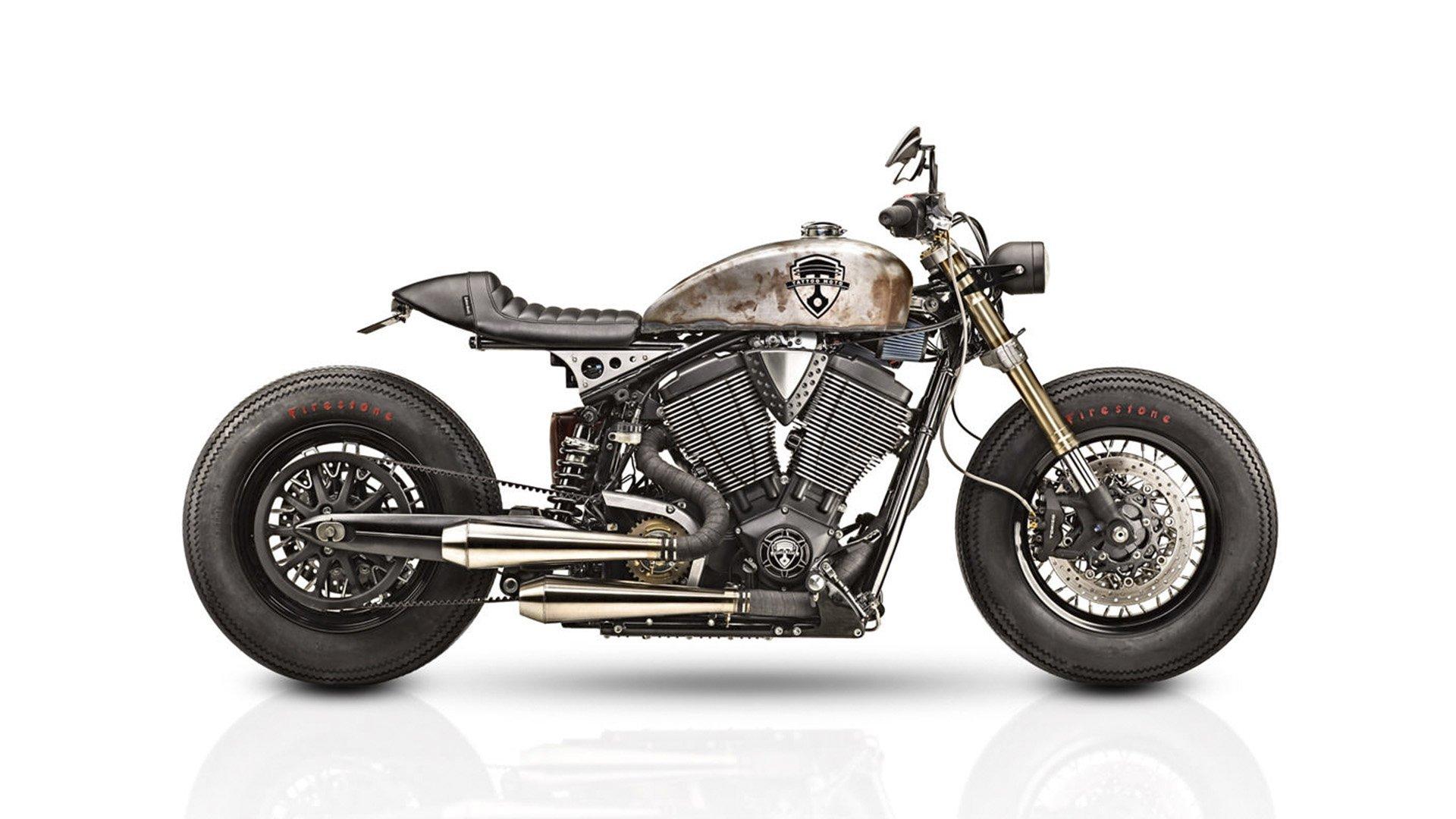 victory gunner cafe racer tattoo moto caferaceros. Black Bedroom Furniture Sets. Home Design Ideas