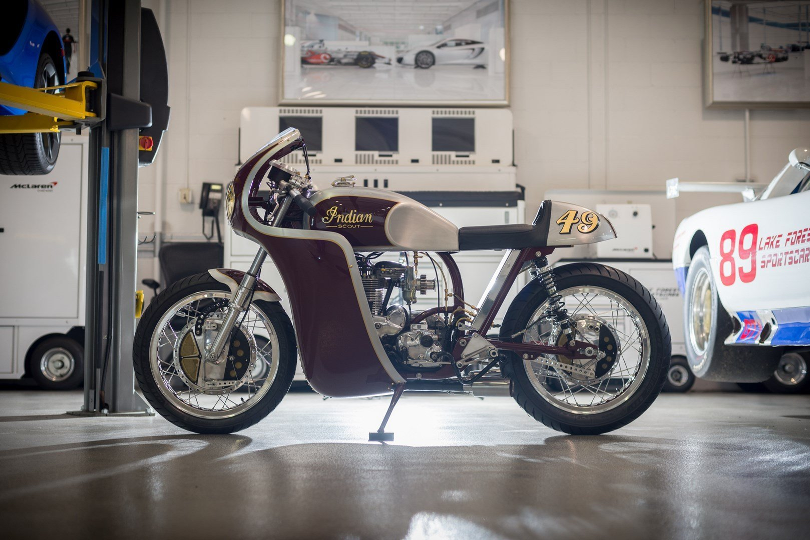 """Indian Scout 1949 """"The Continental Scout"""" (Analog Motorcycles) 52"""
