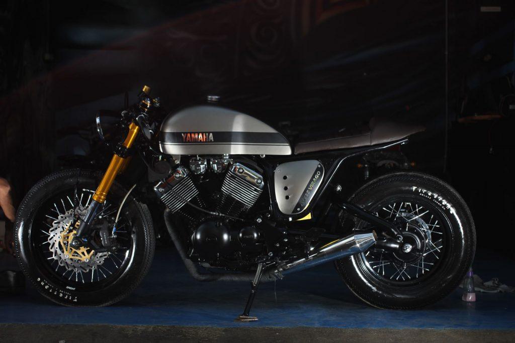 "Yamaha Virago 535 ""The Clyro"" Cafe Racer (Studio Motor) © caferaceros.com"