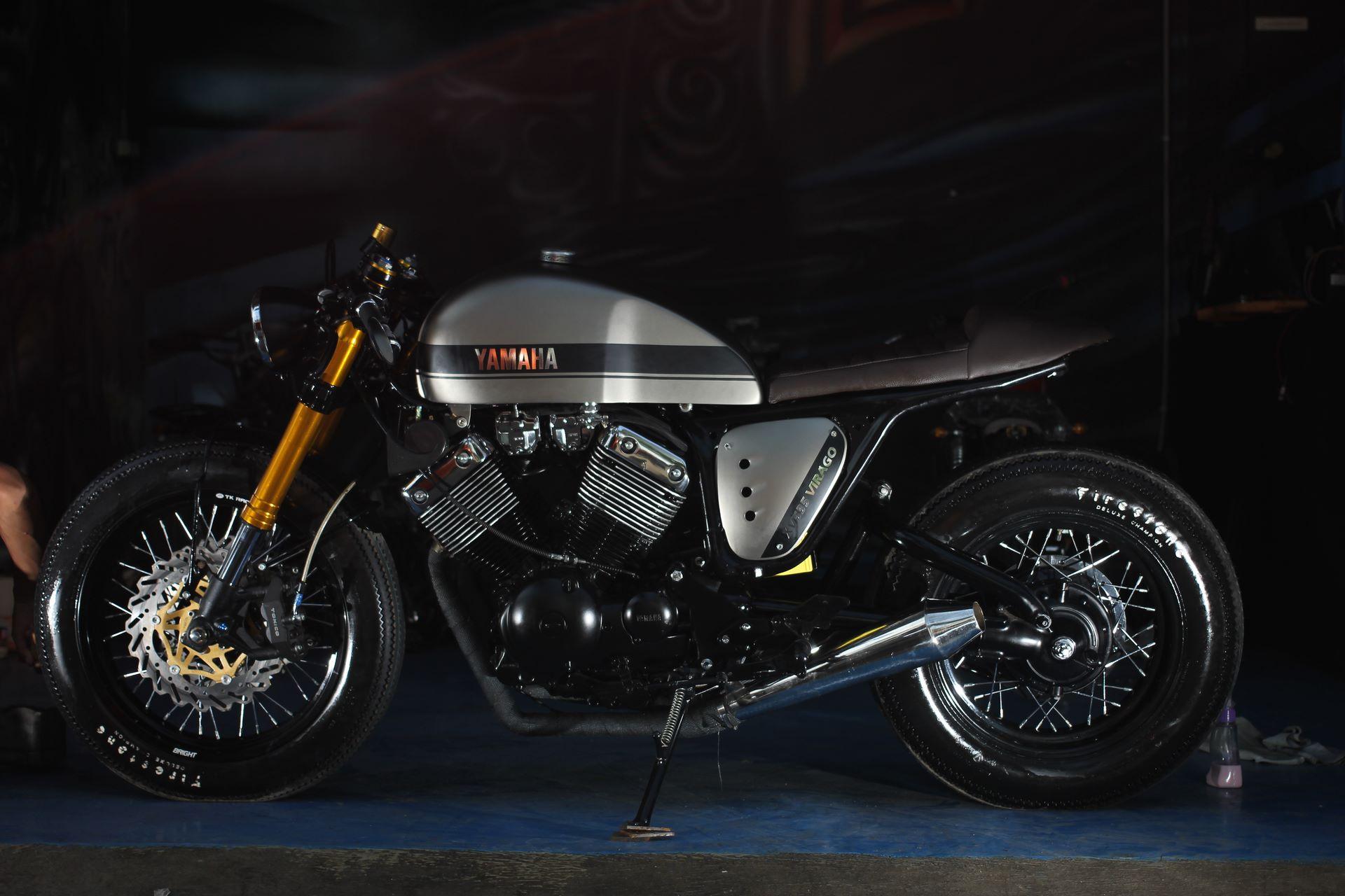 yamaha virago 535 the clyro cafe racer studio motor. Black Bedroom Furniture Sets. Home Design Ideas