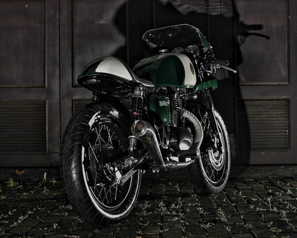 "Kawasaki Estrella 250 ""The Verde"" (Studio Motor) - caferaceros.com"