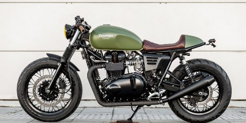 "Triumph Thruxton ""Lady Speed"" Cafe Racer (Macco Motors) - CafeRaceros"